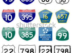 INTERSTATE VECTOR ROAD SIGN Logo Photo - 1