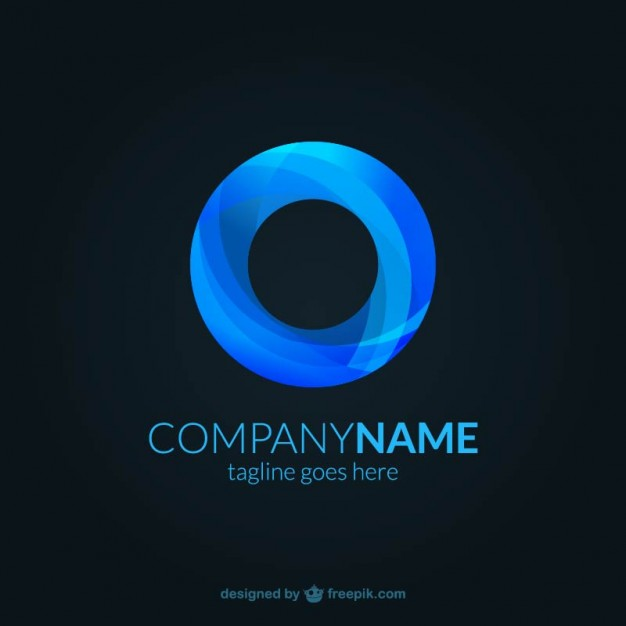 Abstract Blue Logo Template photo - 1