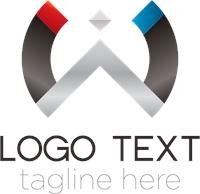 Abstract Metal Semicircle Logo Template photo - 1