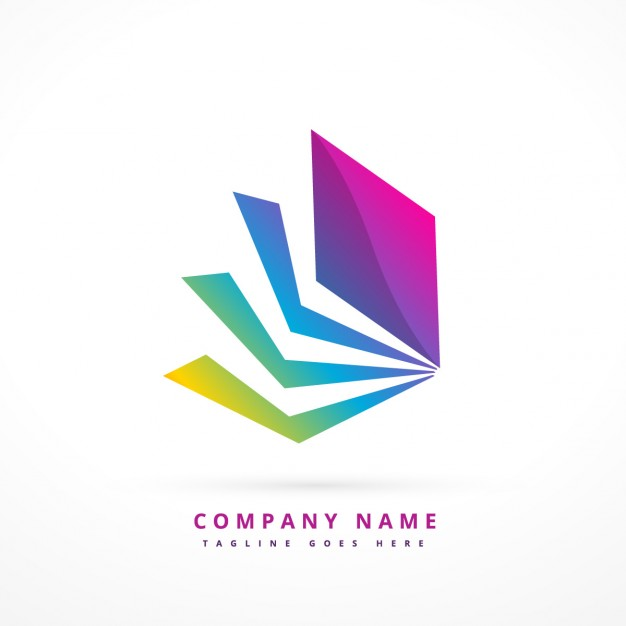 Abstract Shape Colorful Logo Template photo - 1