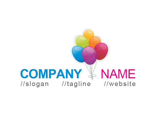 Colorful Balloons Logo Template photo - 1