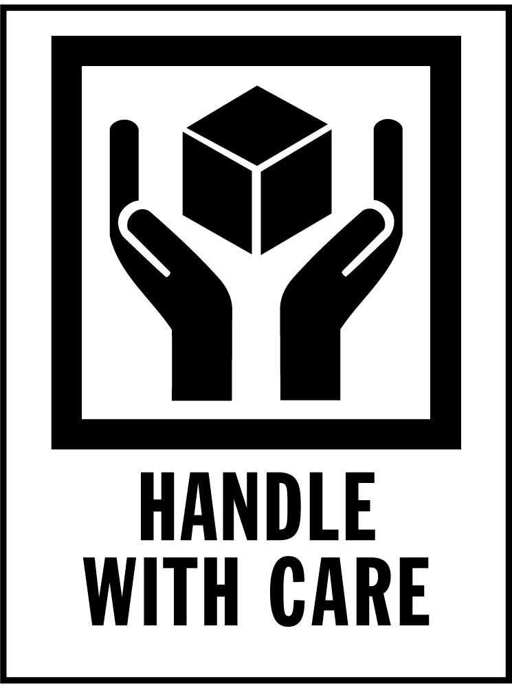Handle With Care Vector Label Logo Logos Rates