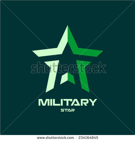 MILITARY STAR Logo Template photo - 1