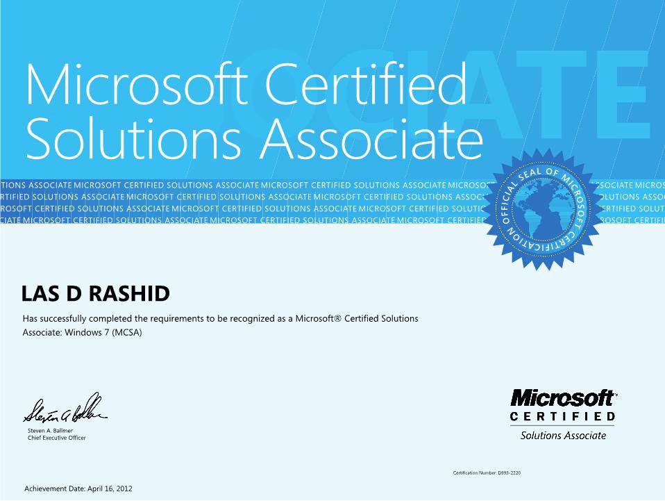 Microsoft Mcsa Logo Logos Rates