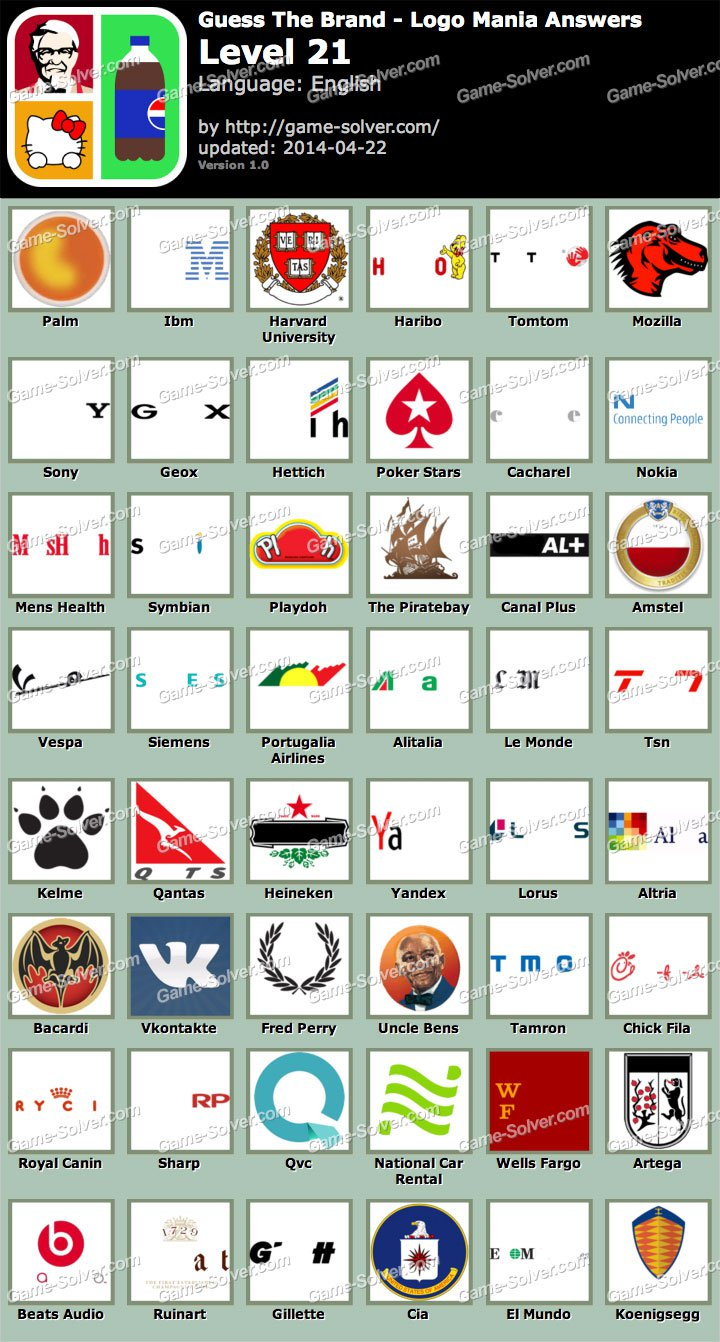 Try this ultimate guess the brand game puzzle now!