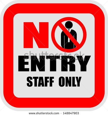 STAFF ONLY VECTOR SIGN Logo photo - 1
