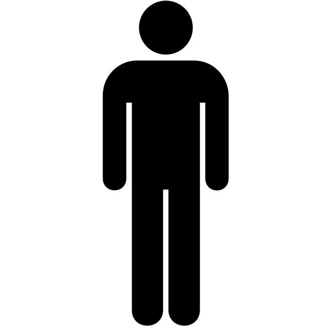 TOILET FOR MEN VECTOR SIGN Logo   Logos Rates