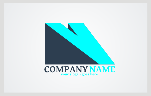 Yellow and Blue V Logo Template photo - 1