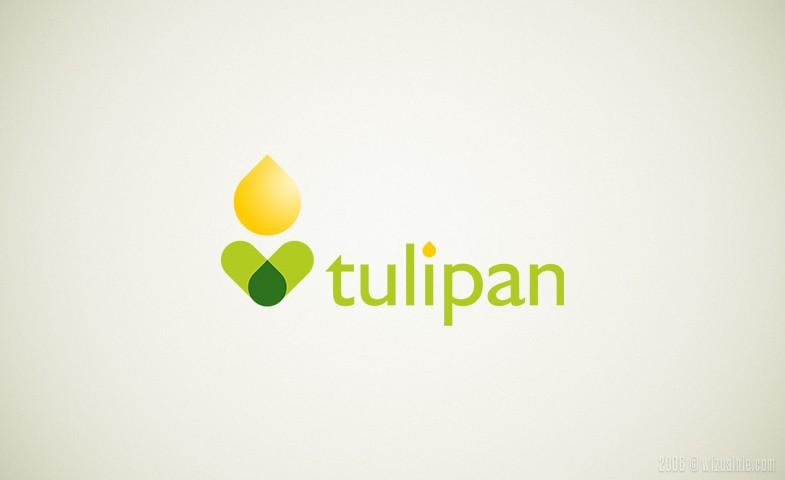 Illustration of tulip flower isolated on white background